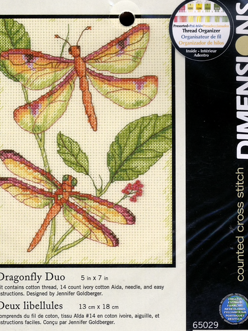 Counted Cross Stitch Kit - Dragonfly Duo