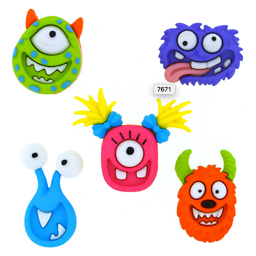 Dress it up Buttons - Mad For Monsters Childrens/Craft Buttons