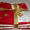 Thumbnail: Christmas Fat Quarter Pack - John Louden Cotton White/Red 5 Pack