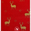 Thumbnail: The Craft Cotton Co - Christmas Gold Stags Cotton Fabric - Red