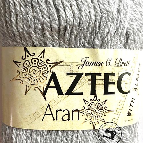 James C Brett Aztec Aran with Alpaca Grey AL10