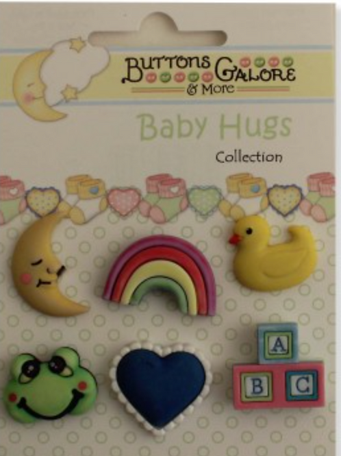 Buttons Galore - Nursery Time BH104 - Childrens/Craft Button