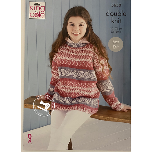 King Cole Childrens - Fjord DK  Sweater and Hoodie - 5650