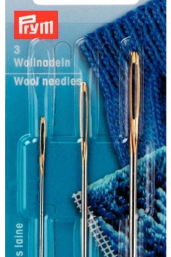 Prym Wool Needles - Sewing Knitted Garments/Darn - Pack of 3