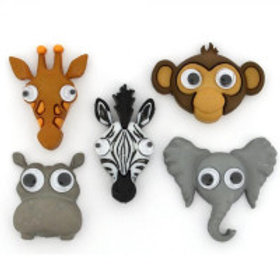 Life's a Zoo Novelty Buttons by Dress it up.