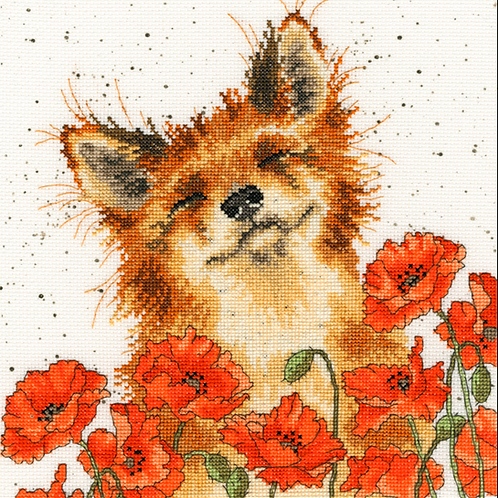 Cross stitch kit  Poppy Field