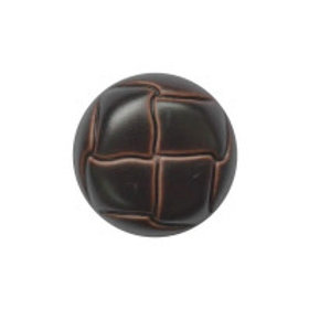 Buttons leather look round 20mm