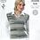 Thumbnail: King Cole Ladies Tank Top/Waistcoat - Knitting Pattern DK 4255