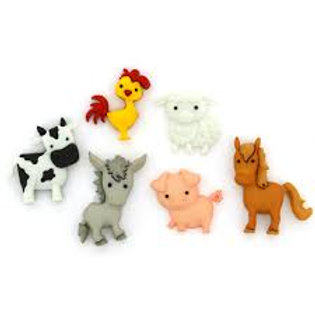 Dress it up Buttons - In the Barnyard Childrens/Craft Buttons