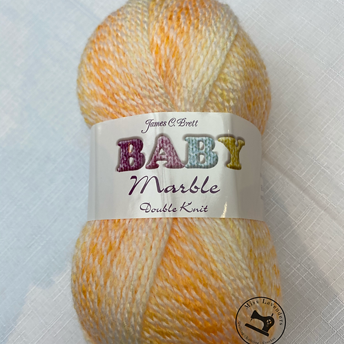 James C Brett Baby Marble DK - BM23 Yellow/Orange