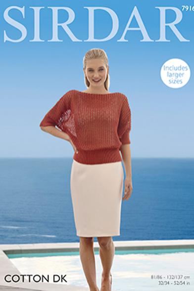 Sirdar Cotton Ladies Sweater DK 7916