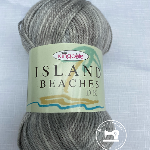King Cole Island Beaches DK (100g) - Silver Sand Grey 4525