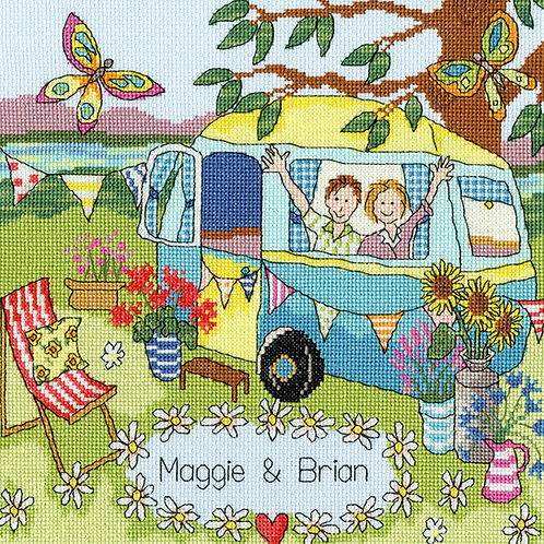 Bothy Threads Our Caravan -  Cross Stitch Kit