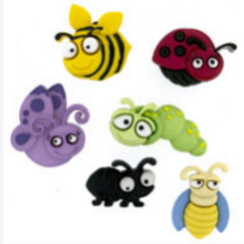 Dress it up Buttons - Bug Eyed 6551  Childrens/Craft
