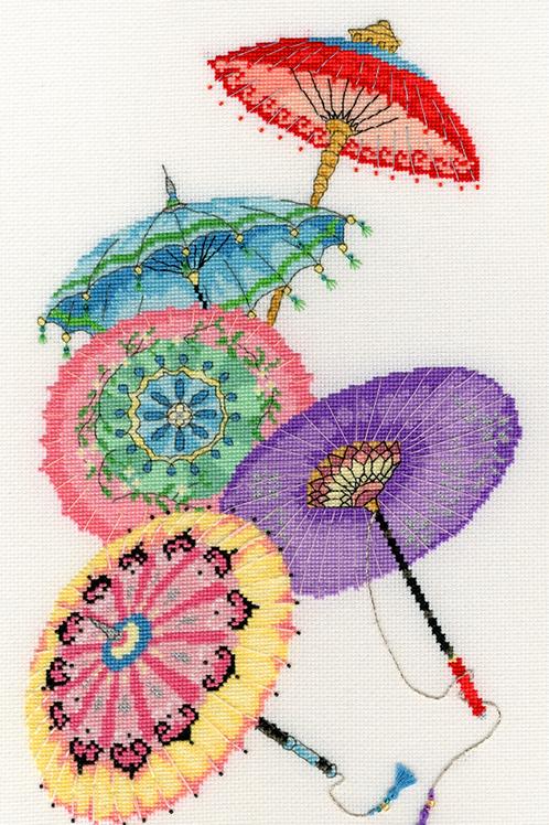 Bothy Threads Parasols -  Cross Stitch Kit