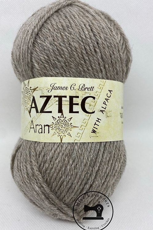 James C Brett Aztec Aran with Alpaca - Light Brown AL03