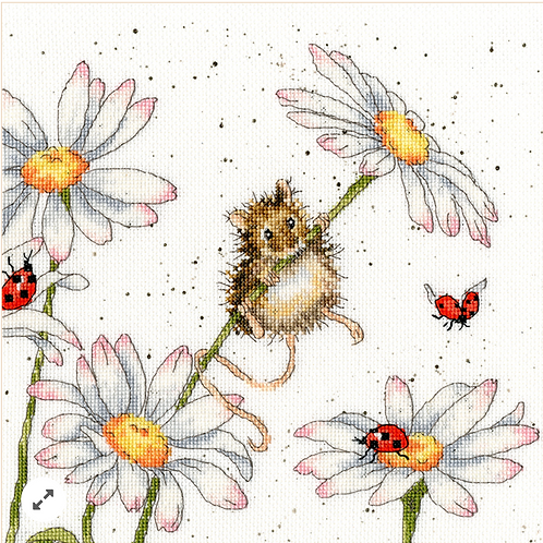 Bothy Threads Daisy Mouse -  Cross Stitch Kit