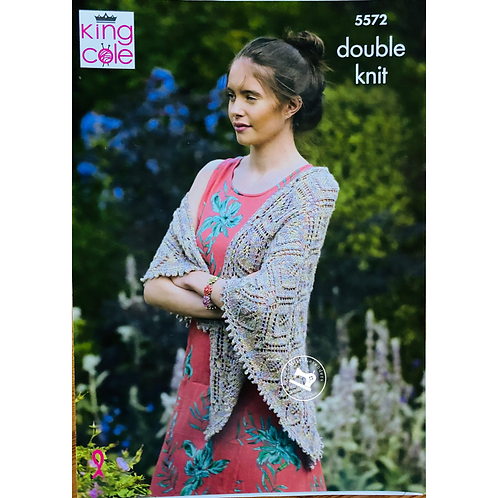 King Cole Adult Wrap and Shawl DK  - 5572