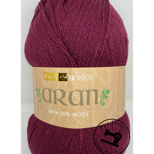 Sirdar Hayfield Bonus Aran with Wool 400g -  Burgundy 764