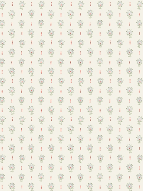 Liberty Winterbourne House - Millefleur Tulip Fabric - Warm Green 04775744/B