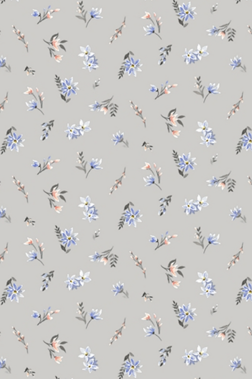 Liberty Winterbourne House  - Lawn Fabric - Grey 04775734/B