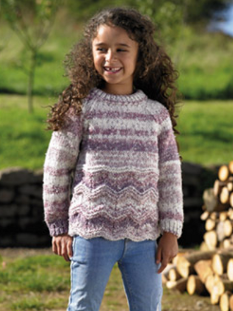 James C Brett Childrens Chunky Sweater JB718