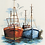 Thumbnail: Cross Stitch Kit Coastal Fish Quay