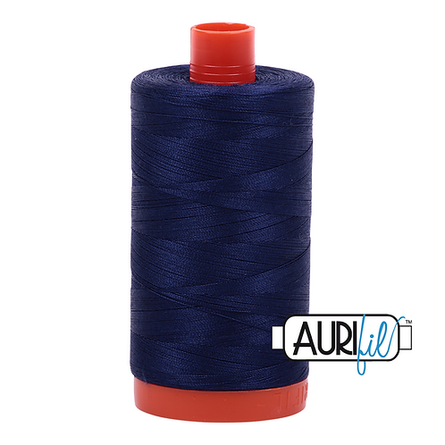 Aurifil 50/2 Navy Blue Thread, 2745