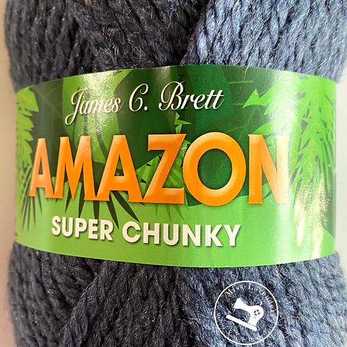 James C Brett Amazon Super Chunky J8 Denim Blue