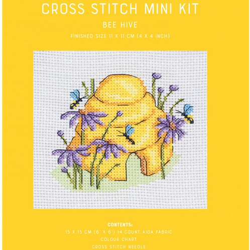 Counted Cross Stitch Mini Kit - Bee Hive
