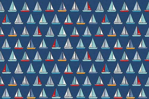 Makower Sail Away Yachts Fabric - Boats