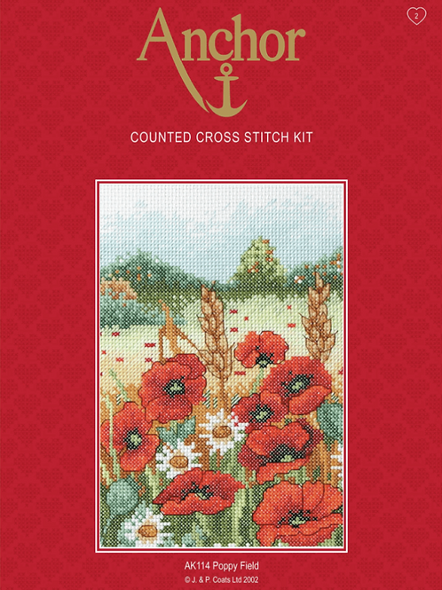 Counted Cross Stitch Kit - Anchor Poppy Field