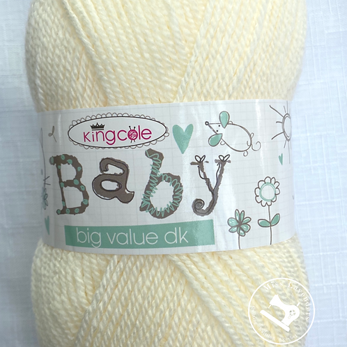 King Cole Big Value Baby Double Knit DK 100g - Cream 2046