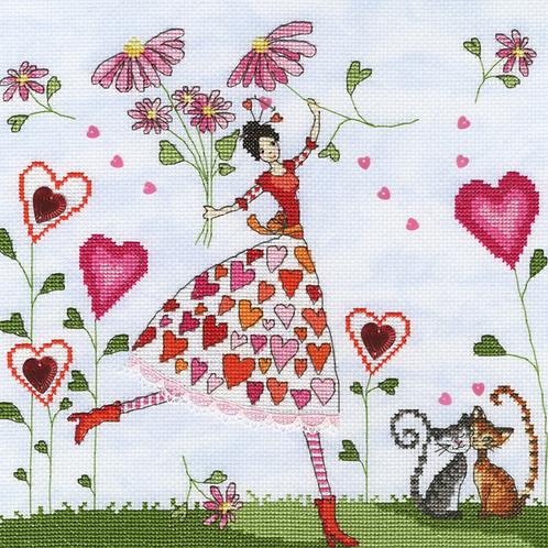 Bothy Threads Miss Heart -  Cross Stitch Kit