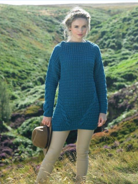 James C Brett Adult Chunky Sweater Tunic Knitting Pattern - JB267