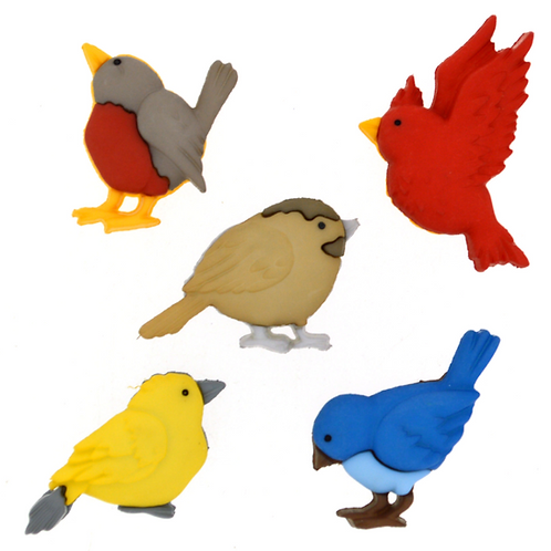 Dress it up Buttons - Feathered Friends - Childrens/Craft Buttons