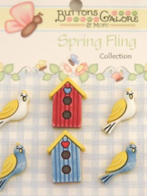 Buttons Galore - Birds of A Feather SF107 - Childrens/Craft Buttons