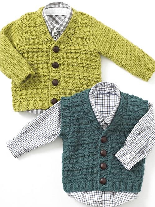 Sirdar/Hayfield Baby/Childrens - Chunky Cardigans/Waistcoat - 4403