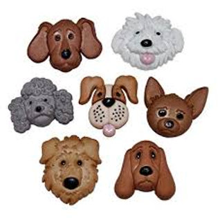 Dress it up Buttons - Fuzzy Faces Childrens/Craft Buttons