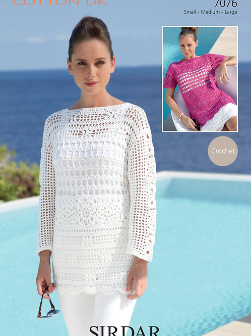 Sirdar Cotton DK Crochet Tunic 7076