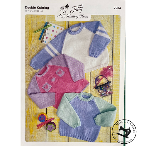 Teddy Baby/Childrens Sweaters in DK - 7204