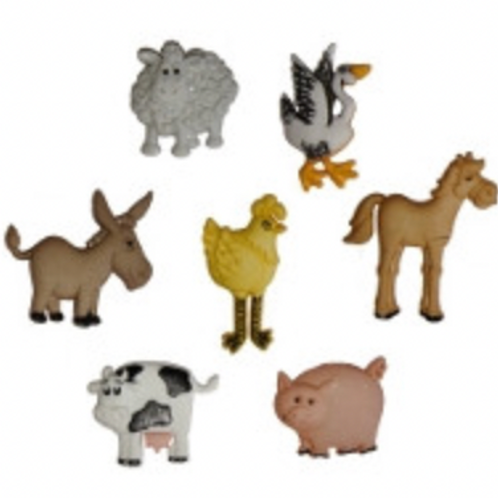 Dress it up Buttons - Funny Farm  4667 - Childrens/Craft