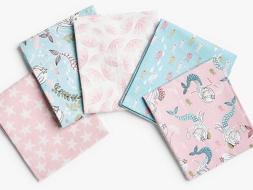 Beautiful Mermaid - Cotton Fat Quarters 5 Pack