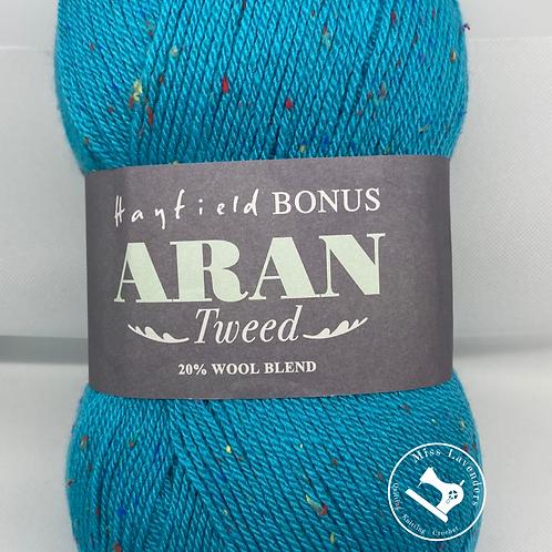 Sirdar Hayfield Bonus Aran Tweed 400g - Tweedy Turquoise  710