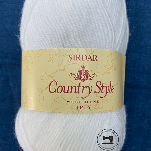 Sirdar Country Style 4ply 50g - White 412