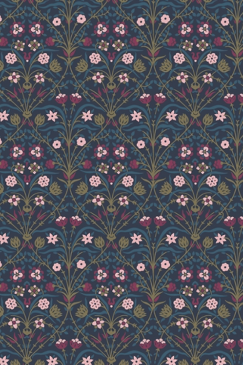 Liberty Winterbourne House - Bankart Fresco Fabric - Dark 04775743/A