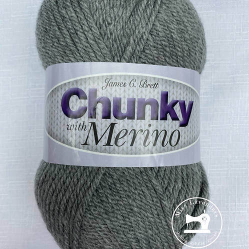 James C Brett Chunky with Merino Grey CM9