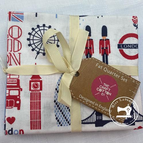 Craft Cotton Co - London Town Cotton Fat Quarters - 5 Pack