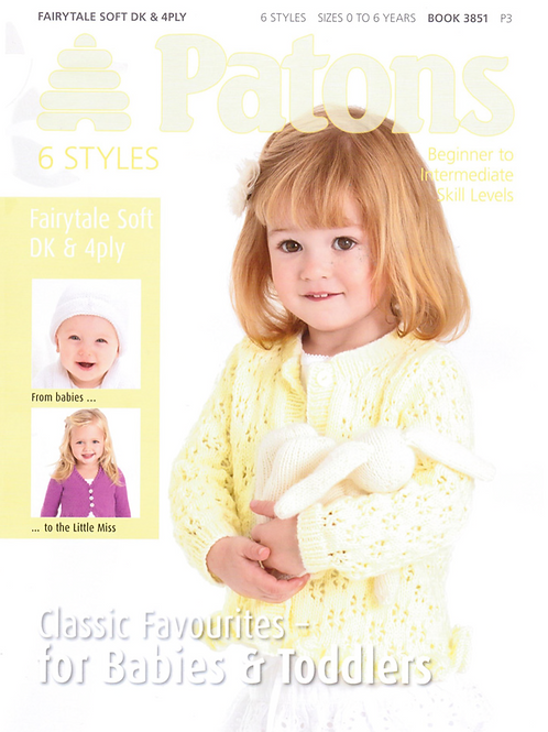 Patons Baby and Toddler Knitting PatternBook - 3851