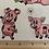 Thumbnail: Farm Fun Pig Print Fabric - 100% Cotton